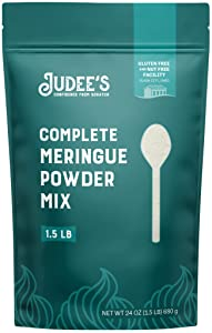Judee's Meringue Powder Mix - 1.5lb (24oz) Resealable Pouch | No Preservatives, Gluten-Free & Nut-Free| Made in USA