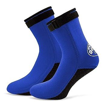 Lixada 3mm Neopreno Buceo Calcetines Botas Agua Zapatos Playa Botines Snorkel Buceo Botas Surf para Hombres