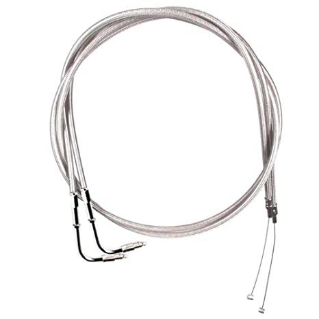 Amazon Com Stainless Braided Throttle Cable Set For 1996 2001