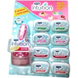 Schick intuition Value Variety Pack (1 Razor Handle with 9 Cartridges) Date of manufacture, 2017