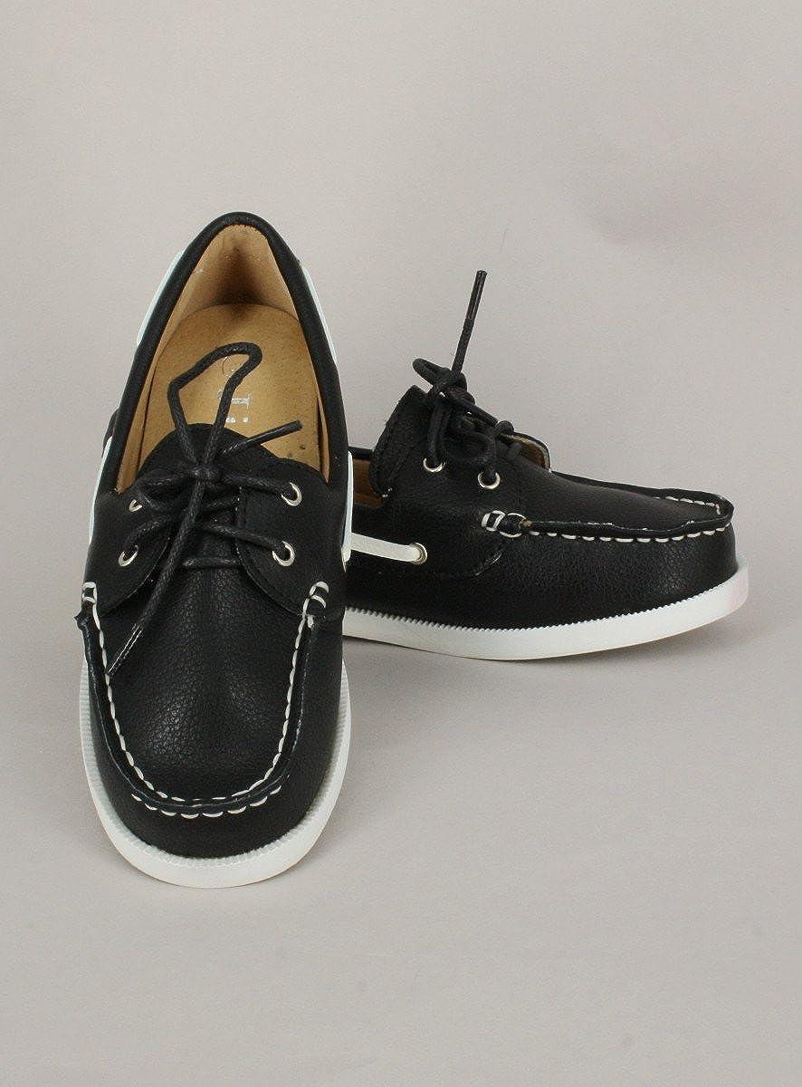 Chaussure Bateau Blanche ou Noire Enfant gar/çon