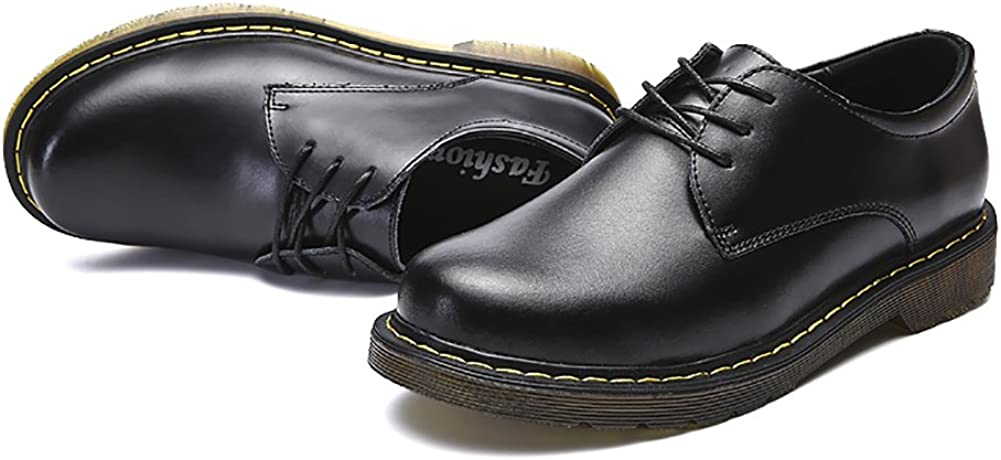 Insun Mens Casual Leather Oxford Shoes Round Toe