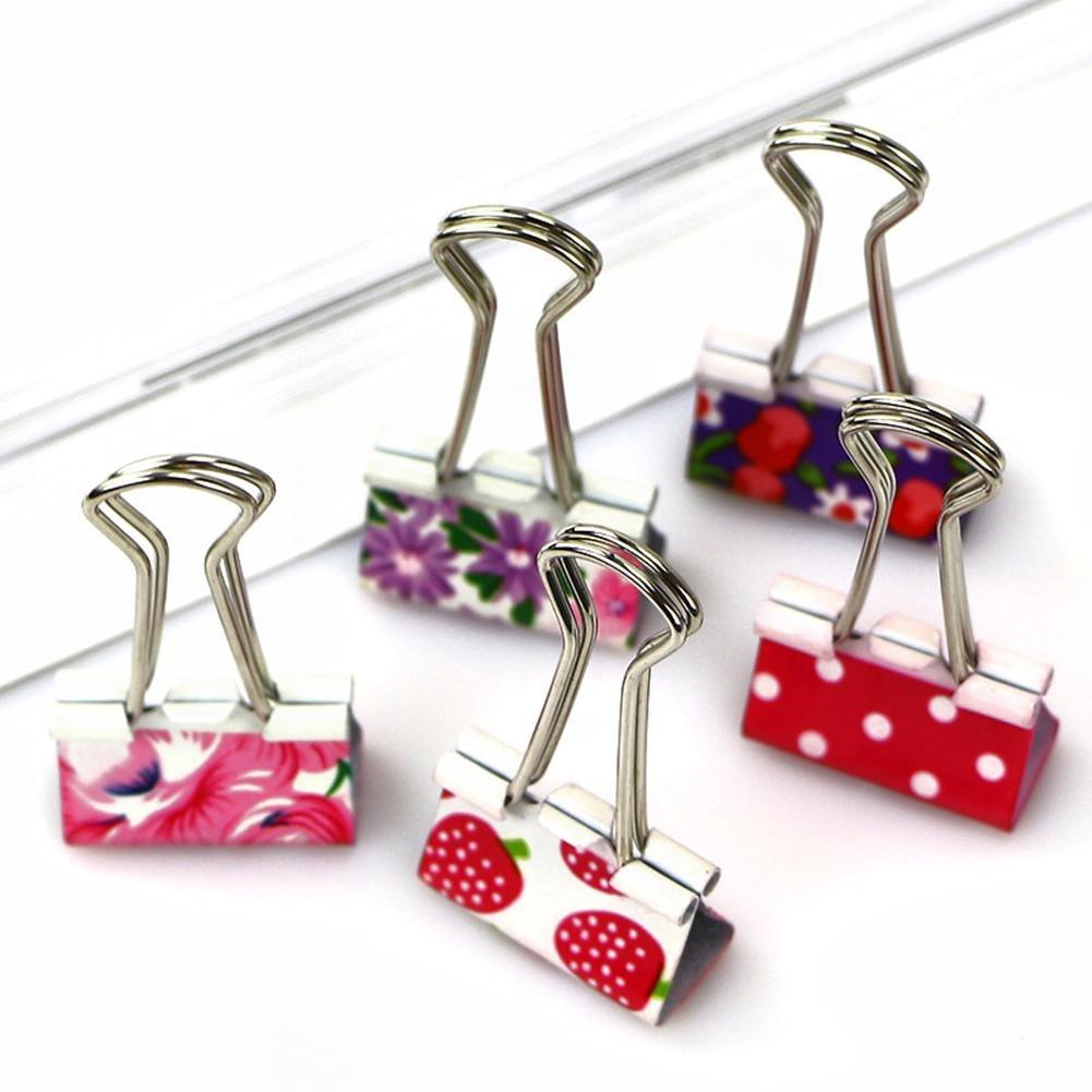 Teabelle colorato metallo raccoglitori clip carta ufficio clip cancelleria forniture 24PCS/lotto 19mm