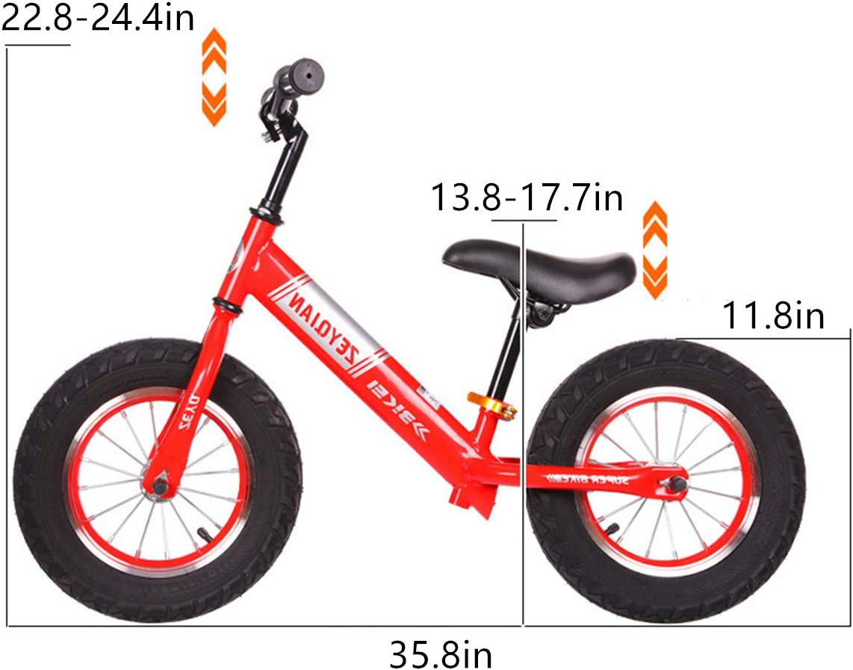 GJNWRQCY Bicicleta de Equilibrio para niños Bicicleta sin Pedal ...