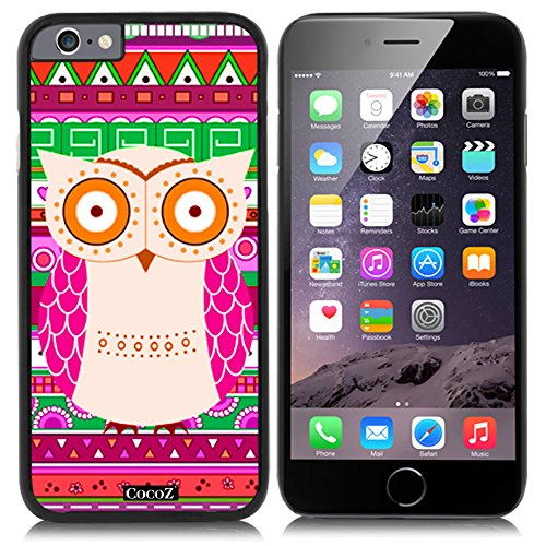 CocoZ? New Apple iPhone 6 s 4.7-inch Case Lovely owl National wind pattern PC Material Case (Black PC & OWL - Picture Black Ok Guy
