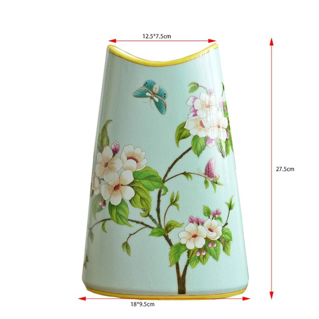セラミックス花水耕栽培花瓶リビングルームの柔らかい調度品花挿入機装飾 anQna (形状 けいじょう : 2) B07SDN7QXN  2