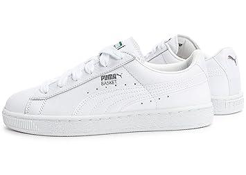 quality design e4a01 2fd8d Puma Basket Classic L BTS J, White / Puma Silver: Amazon.co ...