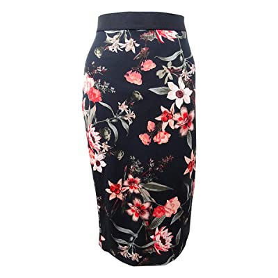 Alfani Women's Printed Scuba Skirt at Amazon Women's Clothing store