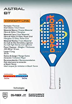 DROP SHOT - Raqueta de Tenis de Playa | Astral BT: Amazon.es: Deportes y aire libre