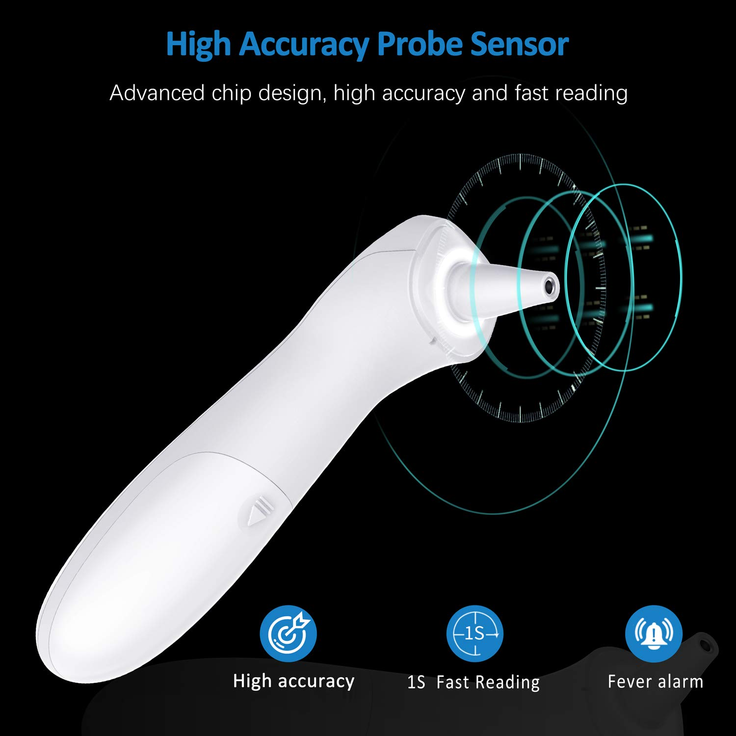 Adults Infrared Thermometer Infants Digital Infrared Forehead Thermometer Non-Contact Digital Thermometer with Fever Alert Function Forehead Thermometer Ideal for Baby
