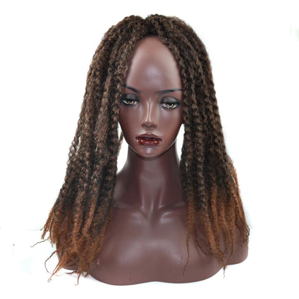 Amazon.com: Huphoon Full Wigs for Black Women Fluffy Curly Twist Crochet Braids Synthetic Hair Cosplay Party False Hair (B): Beauty