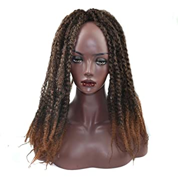 Huphoon Full Wigs for Black Women Fluffy Curly Twist Crochet Braids Synthetic Hair Cosplay Party False