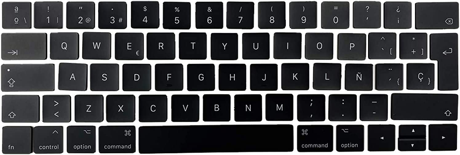 Individual Replacement Key Cap Set of Spain Keyboard Replacement Keycaps Keys QWERTY for MacBook Pro Retina 12