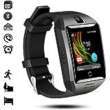 Bluetooth Smart Watch,gearlifee Android IOS Smartwatch Curved-Screen Orologio per uomo, con fotocamera, SIM Slot per scheda TF, pedometro, monitor del sonno per iPhone,Samsung,Huawei,Sony,LG,Google(Nero)