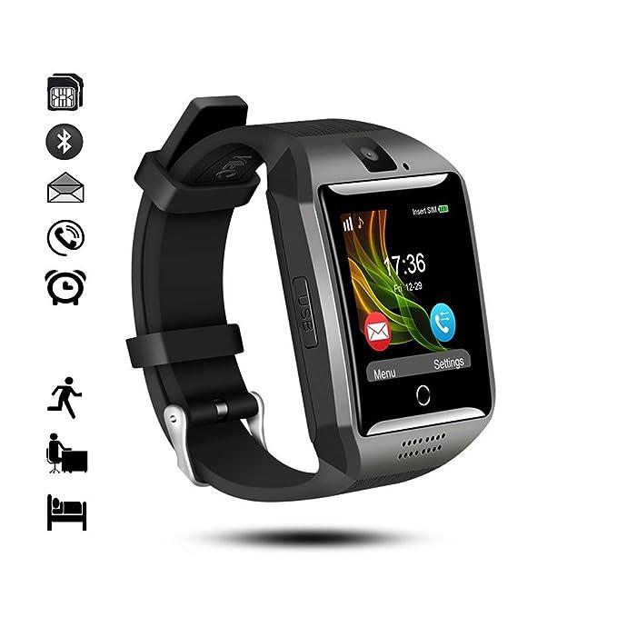 Reloj Inteligente Bluetooth,gearlifee Android iOS Smartwatch Curved-Screen Watch, con cámara, Ranura para Tarjeta SIM TF, podómetro, Monitor de sueño para ...