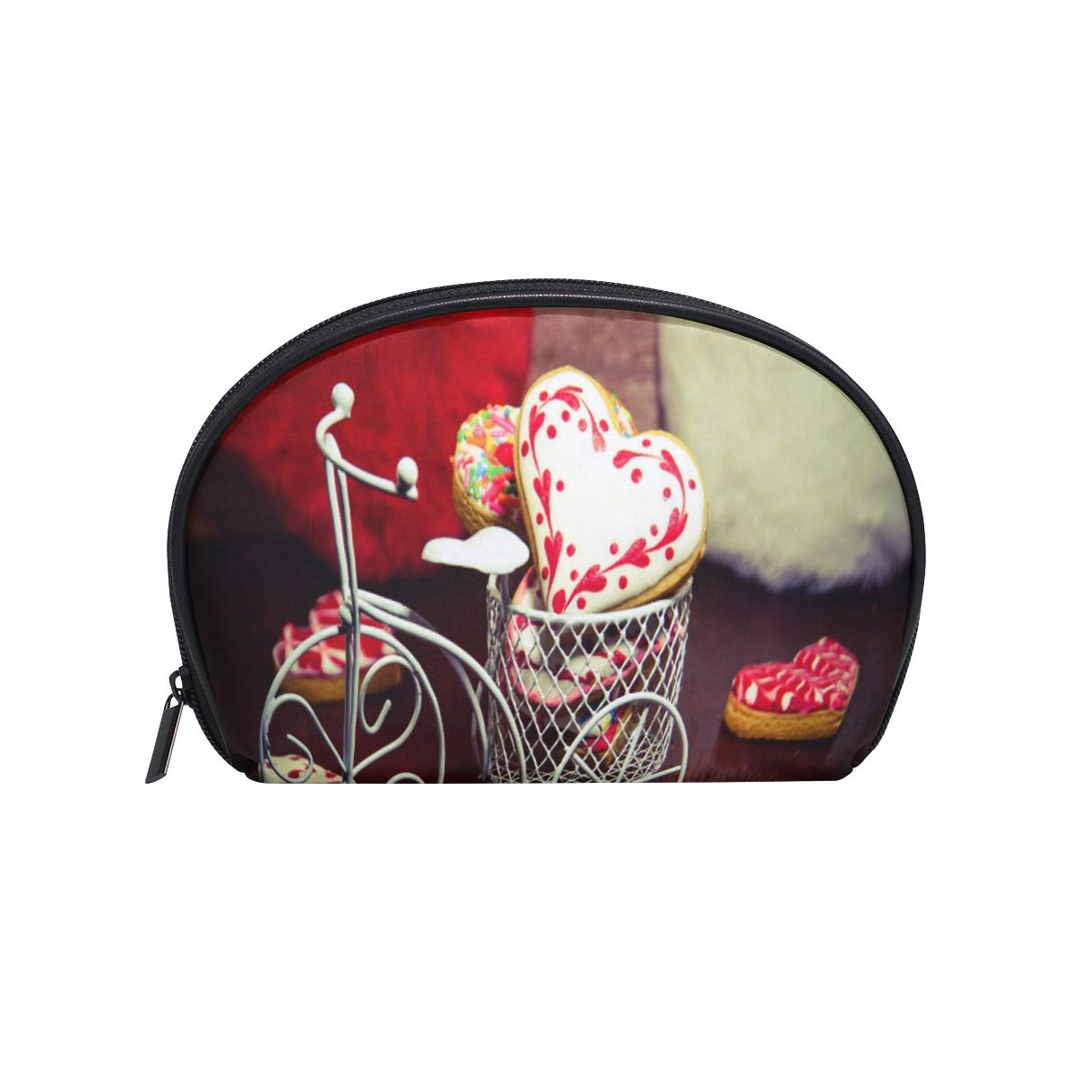 Cosmetic Bag Heart Shaped Cookie Girls Makeup Organizer Box Lazy Toiletry Case