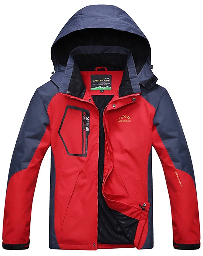 Amazon.com: AbelWay Mens Outdoor Mountain Waterproof Windbreaker Softshell Ski Hooded Jacket Rain Coat: Clothing