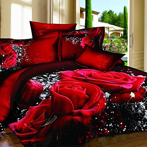 Alicemall Flower Bedding Wedding King 10523742 product image