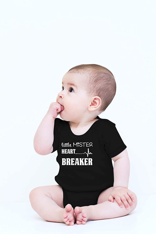 Baby Boy Outfit Boys Valentine Bodysuit Valentine/'s Day Bodysuit Baby Announcement Little MISTER Heart Breaker