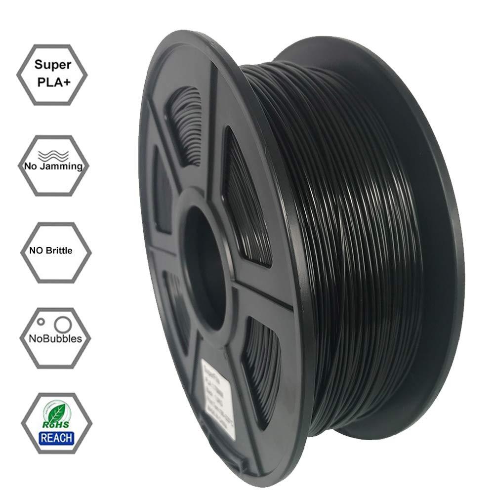 Superfila PLA 3D Printer Filament for Ender 3/Ender 3 Pro, Dimensional  Accuracy +/- 0 03 mm, 1 kg Spool, 1 75 mm, Black