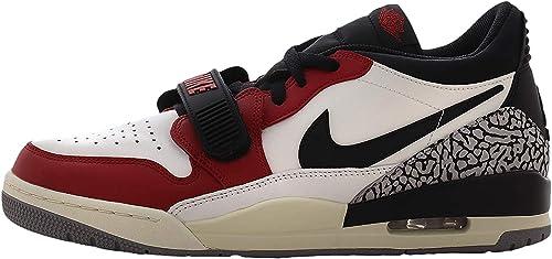 Nike Air Jordan Legacy 312 Low blackvarsity red black cement grey, Größe:10 US, 44 EU