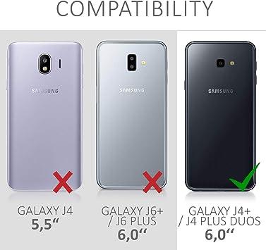 Kwmobile Samsung Galaxy J4 J4 Plus Duos Case Faux Elektronik