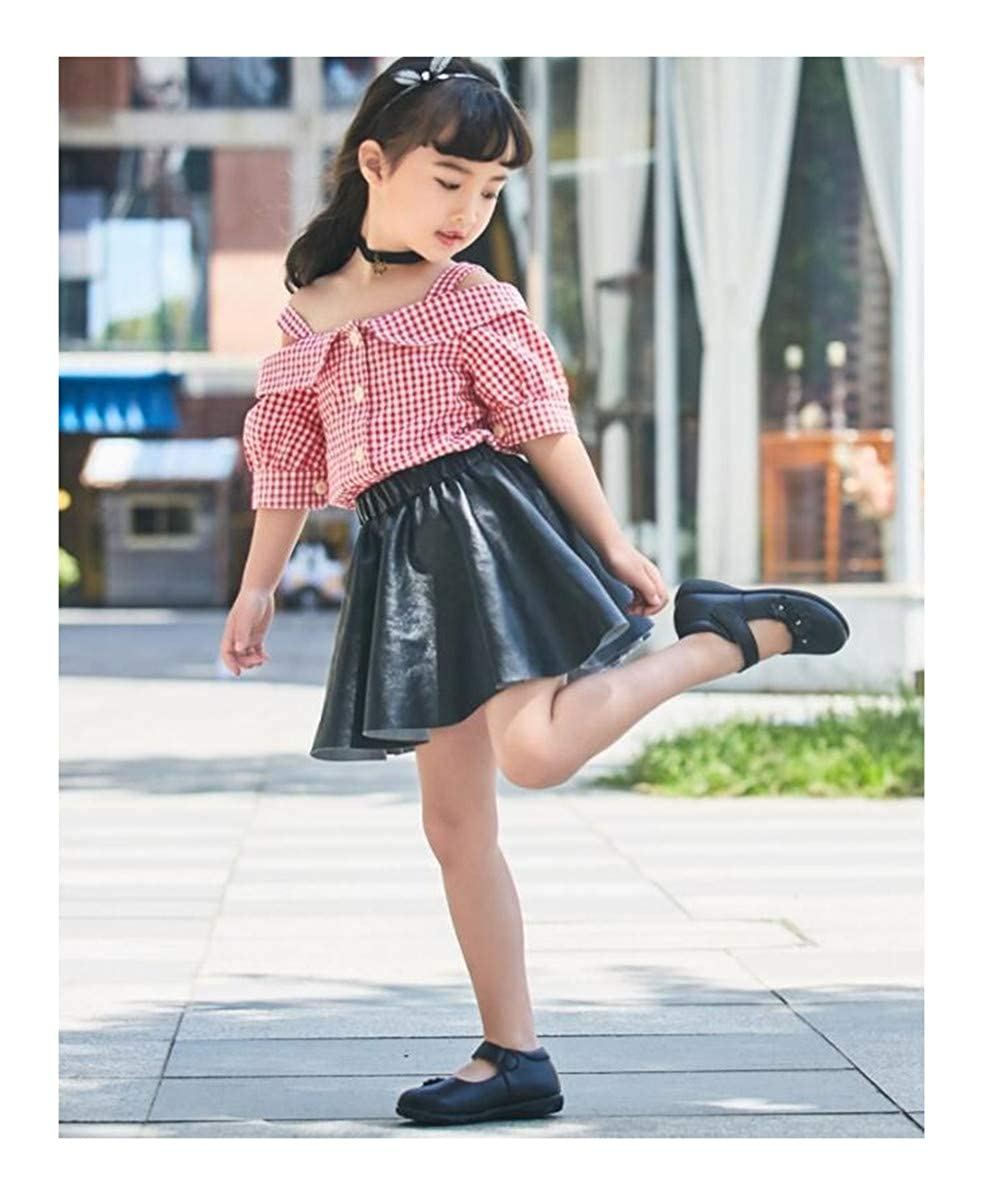 XIUWU Little Girl s Floral Comfy Ballet Shoes Dance Marry Jane Dance Flat Shoes for Toddler//Little Kid