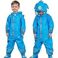 Regenjas voor kinderen, waterdicht, overall met capuchon, regenpak voor jongens en meisjes, regenbestendig, 3-5 jaar…