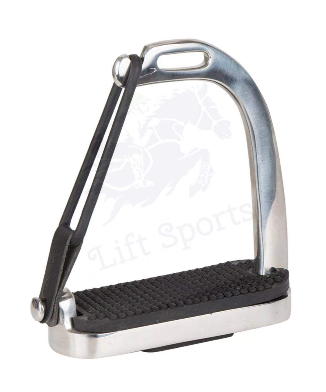 """4.75/"""" HORSE PEACOCK RIDING SAFETY STIRRUPS SILVER POLISH IRONS FILLIS STAINLESS"""