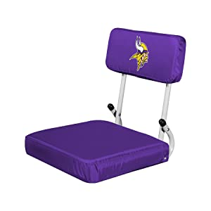 NFL Collapsible Hardback Portable Seat with Metal Bleacher Attachment