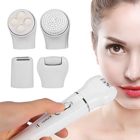5 en 1 Mujeres eléctrico Depiladora facial Depilación facial ...