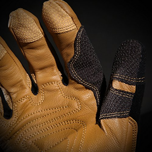 Ironclad Ranchworx Work Gloves RWG2, Premier Leather Work Glove, Performance Fit, Durable, Machine Washable, Sized S, M, L, XL, XXL, XXXL (1 Pair) by Ironclad (Image #7)