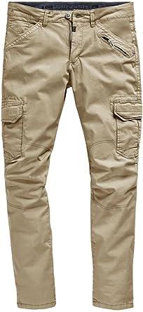 pantalon homme cargo beige