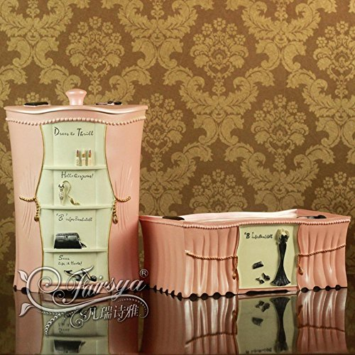 European modern resin bathroom suite toilet sets pretty in pink Two Piece Set-YU&XIN from YU&XIN-bathroom accessories