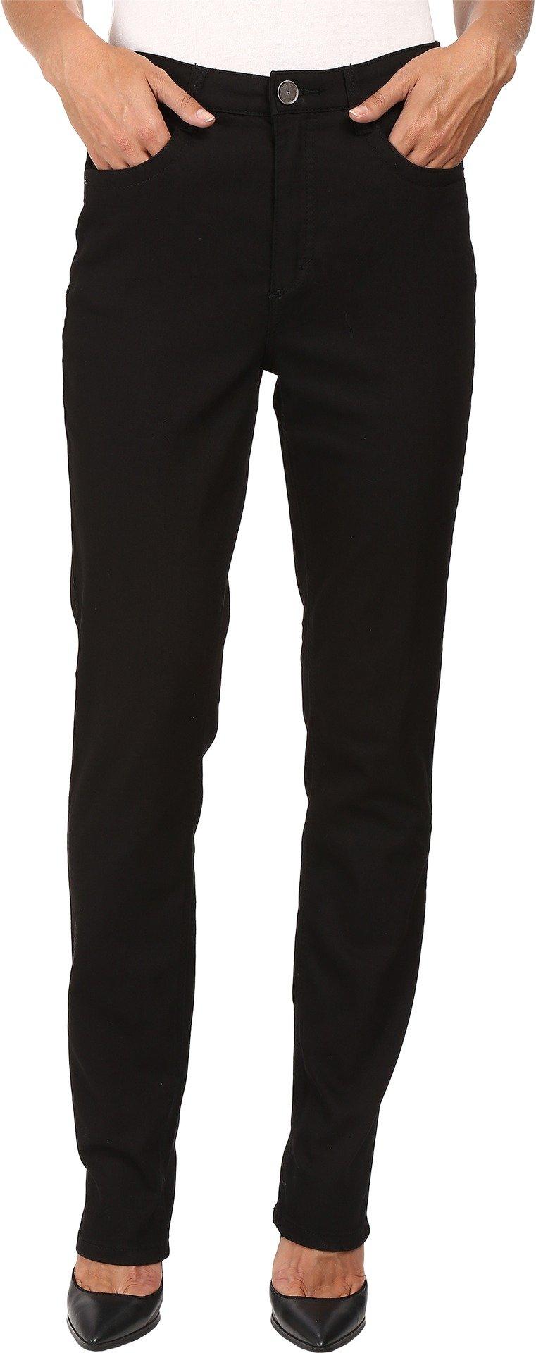 FDJ French Dressing Jeans Women's Supreme Denim Suzanne Slim Leg in Black Black 8 33