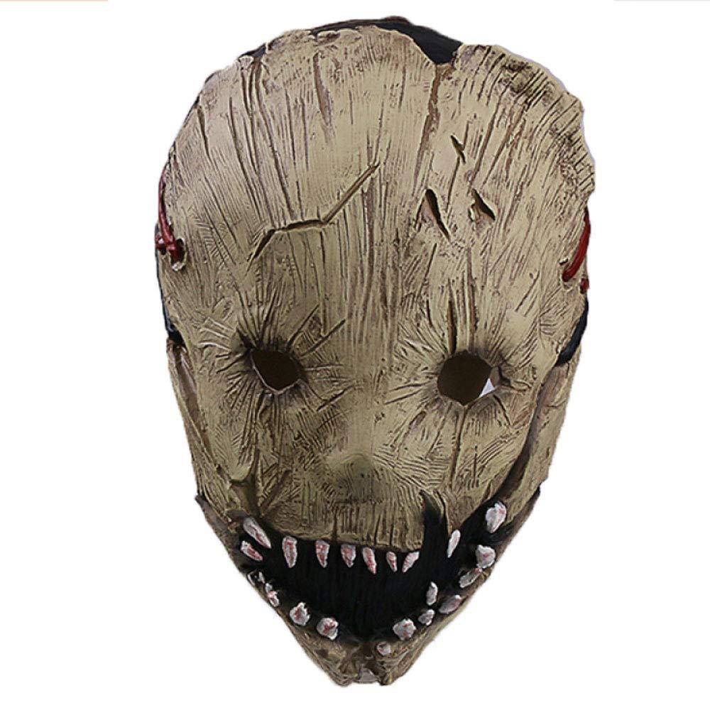 ZAIYI-Mask Masken Halloween High-Grade Harz Metzger Maske Cos Horror Verkleiden Requisiten Party Role Play,OneFarbe