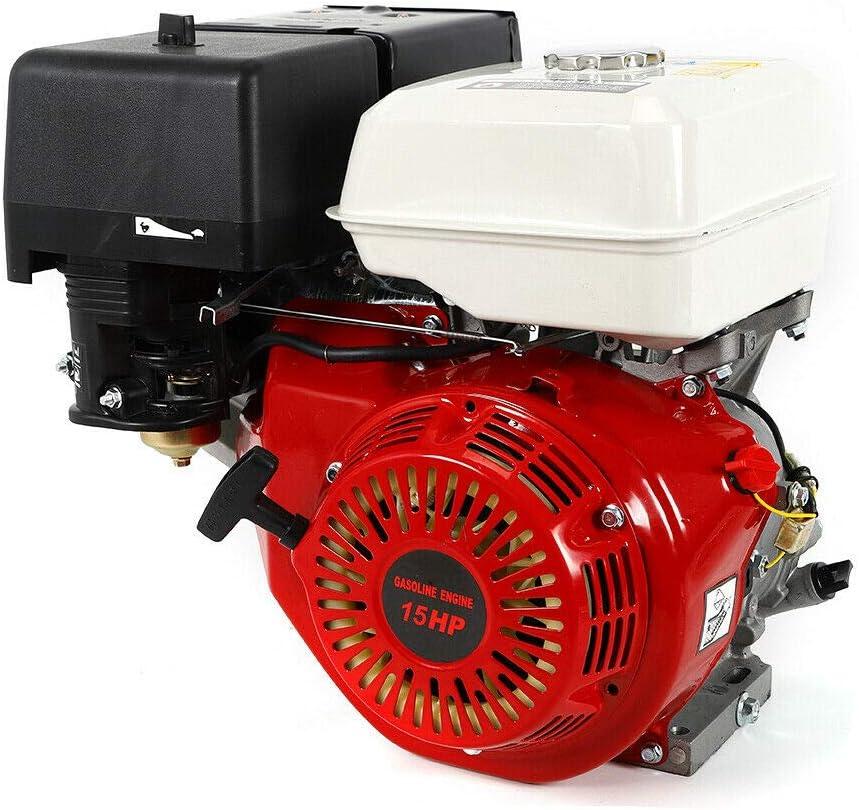 Motor de gasolina de 9 kW, 15 CV, 4 tiempos, refrigeración carburador, 3600 rpm.