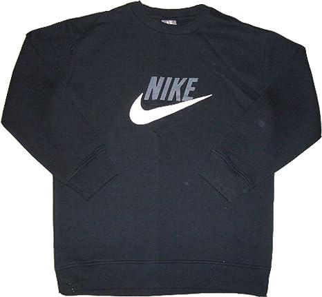 Nike Basic Swoosh Crew Sudadera Cuello Redondo Negro 80% algodón ...