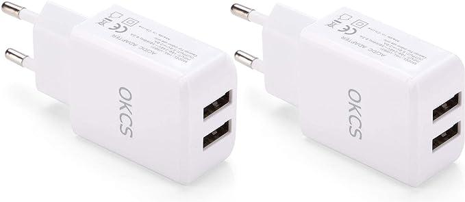 Okcs Usb Ladegerät 2er Pack Netzteil Mit 2 Ports Je Computer Zubehör