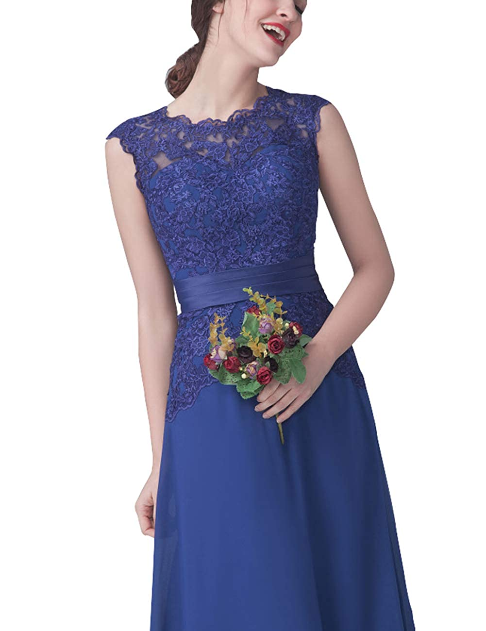 dc5c0fa7c66 Bridesmaid Dresses Formal Evening Dresses Modest Bridesmaid Gowns Long Lace  Prom at Amazon Women s Clothing store
