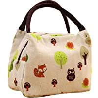 Deal Noon Reusable Stylish Handcrafted Lunch Box Insulated Lunch Bag For Men & Women Boy & Girl Meal Prep Lunch Tote Boxes (Cartoon - Animals)