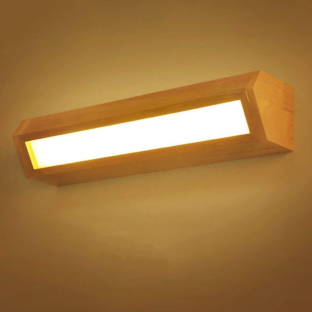 JBP Maß Spiegelleuchte Badezimmerleuchte Massivholz Spiegel Scheinwerfer Spiegelschrank Lampe Wandleuchte Wasserdicht Nebel - JBP5,Weißlight,6W 45CM