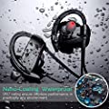 Best Bluetooth Headphones, Toseto T1 Waterproof Wireless Sport Headset With Mic, Bluetooth 4.1 HD Stereo Earbuds for Gym Running Exercise and Working Out 12 Hour Battery Noise Cancelling Earphones