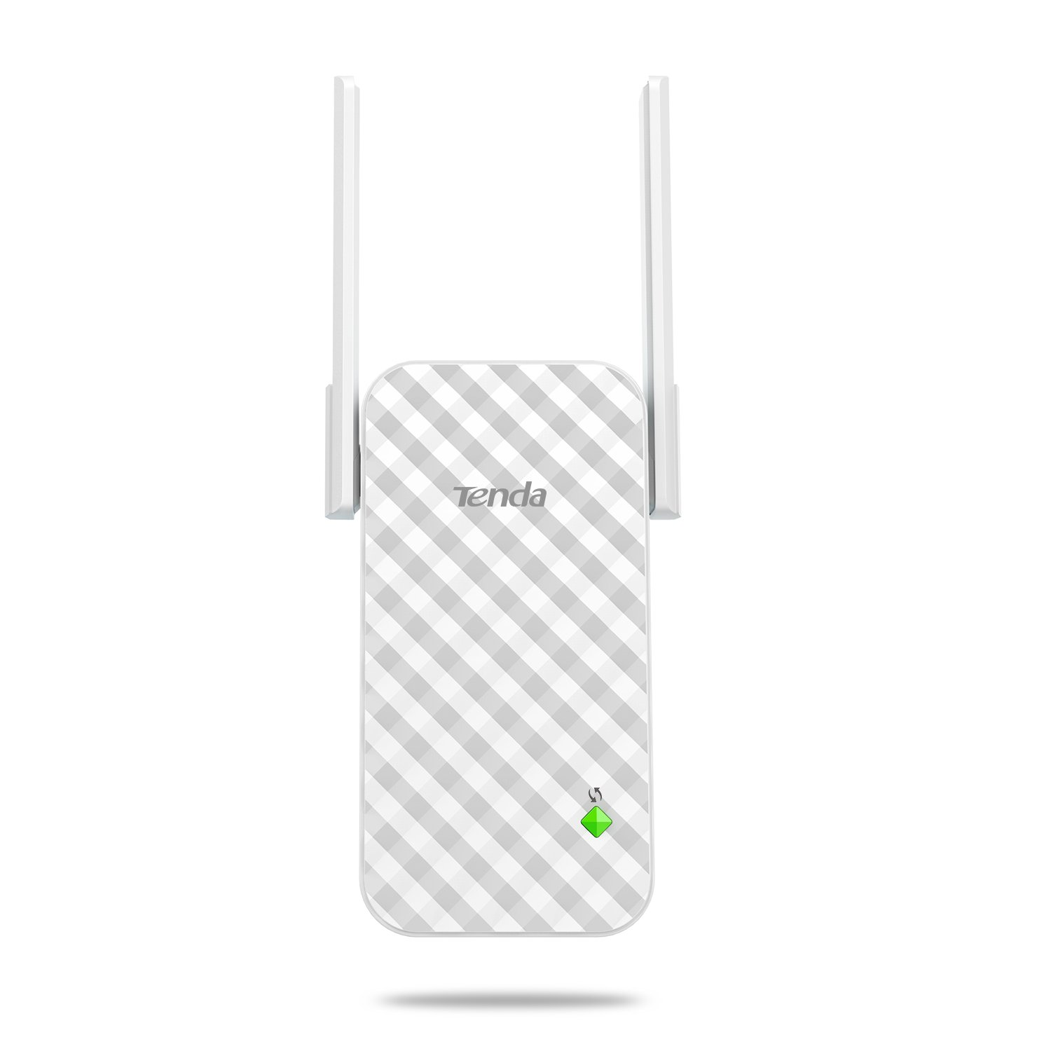 Tenda N300 WiFi Range Extender with 2 External Antennas, One Button Extension, Smart Signal LED and Universal Compatibilityifi(A9)