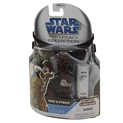 Star Wars Legacy Collection Yoda & Kybuck Action Figure: Toys & Games