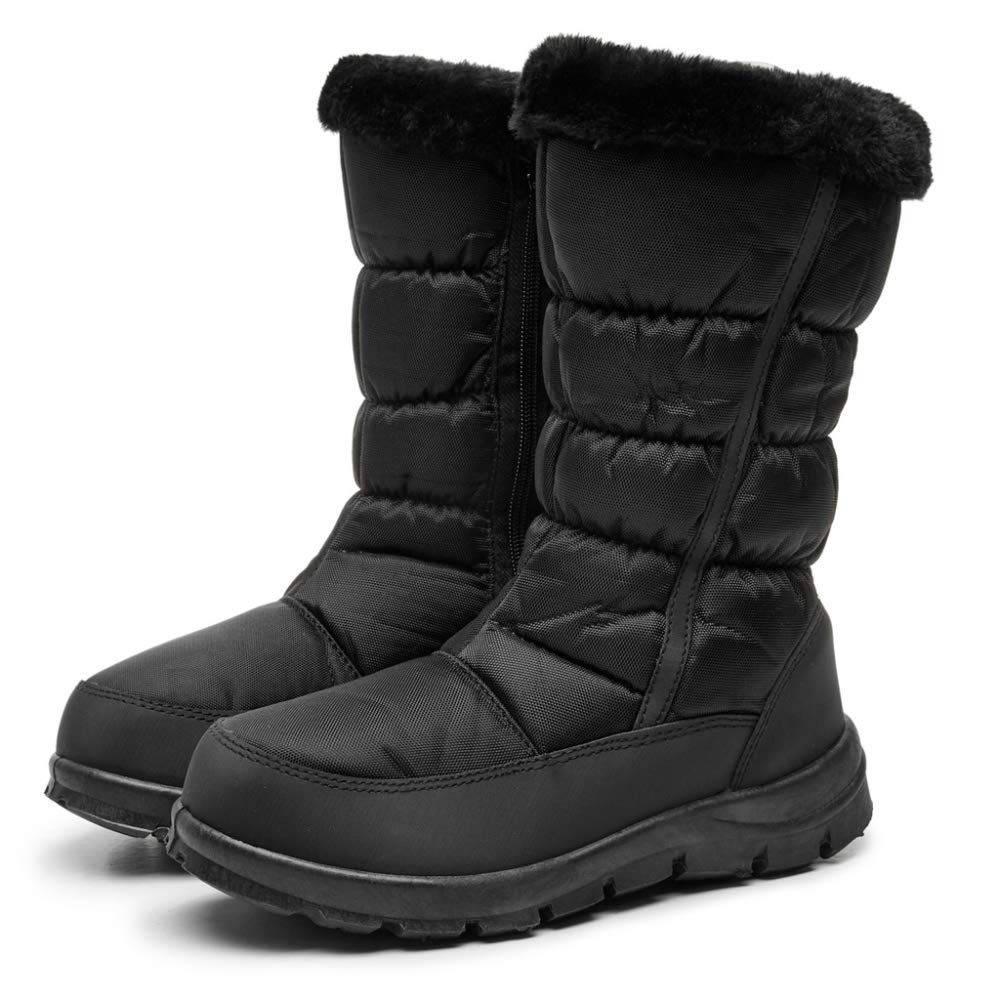 PLNXDM Schneeschuhe Winterstiefel Wasserdichte Outdoor Rutschfeste Gemütliche Lässige Warme Schuhe Hohe Stiefel