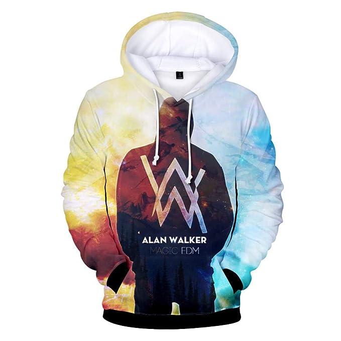 Haililais Alan Walker Sudaderas con Capucha Hombres Suéter Casuales Sweatshirts de Impresión 3D Hipster Jerseys Caída Camisetas de Manga Larga: Amazon.es: ...