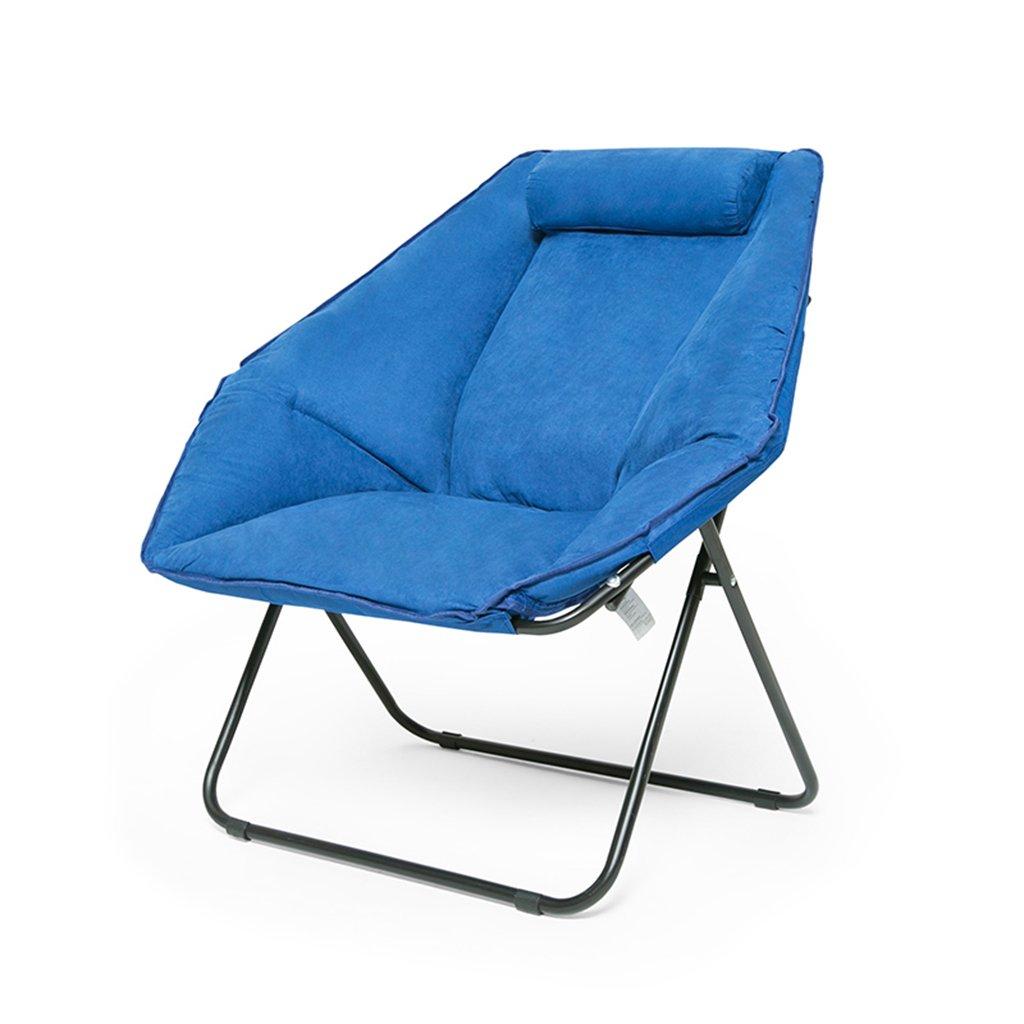 LI JING SHOP - Plier Lazy Canapé Chaise Accueil Loisirs Balcon Chaise Longue Lavable ( Couleur : Bleu )