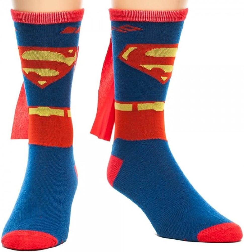 Womens Superman DC Comics Licensed /'Suit Up/'  Knee High Shiny Cape Socks