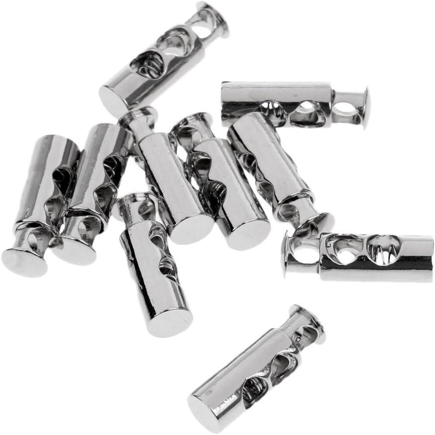 5 X Singolo Foro Cord Lock Stopper Toggle Lacci STOP molla metallica fine ⋆ ⋆ Nero